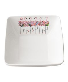Take a look at this Flamingo Chorus Line Square Bowl today!