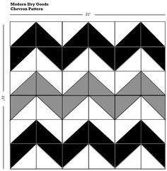 how to make chevron quilt