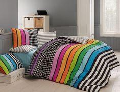 Povlečení z ranforce bavlny s prostěradlem na dvoulůžko Twin Oaks 200 x 220 cm Home Collections, Bed Sheets, Bean Bag Chair, Throw Pillows, Interior, Modern, Color, Furniture, Design