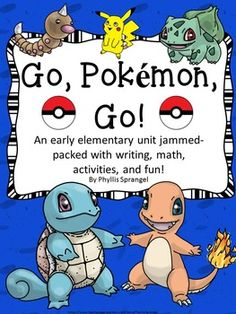 Get your students inspired and engaged with these Pokemon activities! This Pokemon unit is filled with activities for early elementary! It includes writing pieces, games, math, art and much more! Enjoy learning with Pokemon! This contains:Pokmon Handwriting/Coloring Pages (19)Where do you find Pokmon? (4)Meet My Pokmon Writing  (7)Draw Pikachu Using Shapes (2)The Newest Pokmon (5)Pokmon Opinion Writing (6)Pokmon Facts (7)Go, Pokmon, Go! (4)Design a Pokmon Card (4)Team Pokmon (1)Find Pokmon…