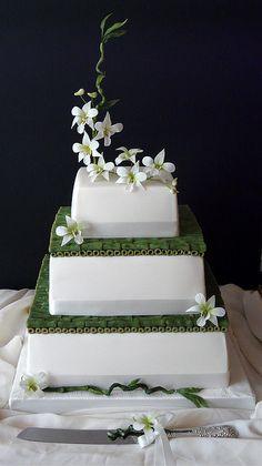 Ikebana style Wedding Cake