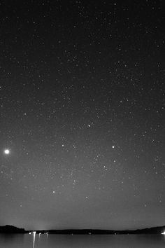 Night Beach Sea Vacation Nature Star Sky Dark Bw #iPhone #4s #wallpaper