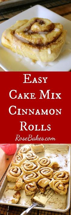 Easy Cake Mix Cinnamon Rolls