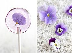 Make your own spring flower lollipops.