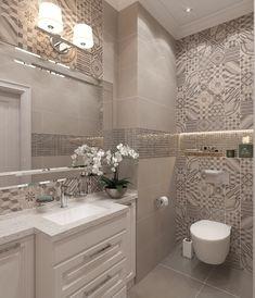 Bathroom vanity ideas luxury tile new ideas Best Bathroom Tiles, Bathroom Wallpaper, Bathroom Design Small, Bathroom Layout, Bathroom Interior Design, Bathroom Styling, Modern Bathroom, Bathroom Lighting, Bathroom Ideas