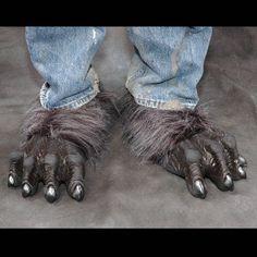 Grey Costume Werewolf Feet