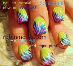 neon flames and zebra print nail art nails design   http://www.youtube.com/watch?v=Efa4c2el0YM
