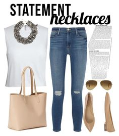 """Fer"" by luissa on Polyvore featuring Canvas by Lands' End, Frame Denim, Old Navy, Ray-Ban, Lightfoot's, Rodo and statementnecklaces"