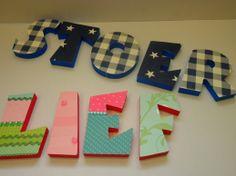 Mooie letters van piepschuim
