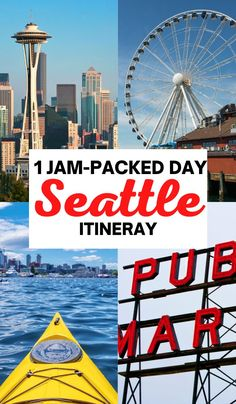 How to spend one day in Seattle, Washington, best things to do in Seattle in 1 day, what to do in Seattle, Seattle itinerary for 1 day, Seattle travel tips, Seattle city, Seattle summer, Seattle winter, Seattle Bucket Lists, Seattle night, Seattle photography, Seattle city guide, Seattle Pike Place Market, Unique things to do in Seattle, Canada, Seattle food, Downtown Seattle, Pacific Northwest #Seattle #USA #TravelGuides Seattle Food, Seattle Travel, Seattle City, Downtown Seattle, Travel Guides, Travel Tips, Travel Destinations, Seattle Photography, Travel Photography