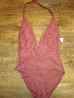 dd77c4d179 Xhilaration Womens Lace Plunge One Piece Sedona Swimsuit Size Medium  #fashion #clothing #shoes