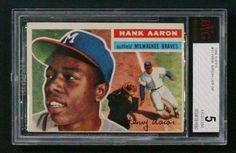 Hank Aaron 1956 Topps #31 BVG 5 (EX)