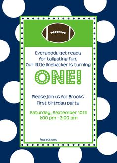 """Photo 11 of 11: Football / Birthday """"Brooks FIRST tailgate"""" 