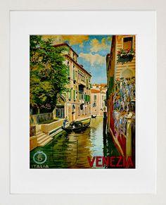 Travel Art Print Venice Italy Vintage Home Decor Poster (ZT150)