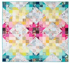 "Holy mother of pearl! The colors radiating in this ""Obsession Quilt"" by Laura Jane Taylor are astounding!"