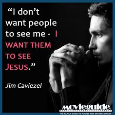 Jim Caviezel from Passion Of The Christ.