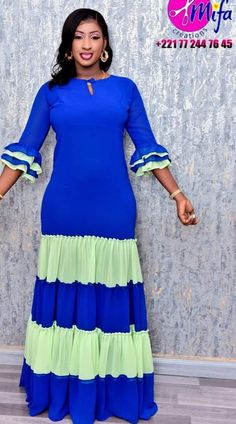 African Blouses, African Maxi Dresses, Kaftan Abaya, African Print Fashion, African Design, Ankara Styles, Gowns, Womens Fashion, Clothes