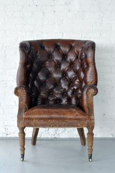 Single Malt Aged Leather Chair | Patina