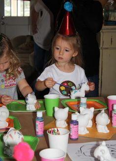 Get little ceramic pieces to paint! LOVE IT