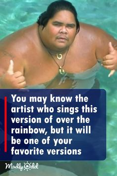 Israel Ka'ano'i Kamakawiwo'ole was an innovative Hawaiian musician with a soft but powerful voice. In this video you can see his breathtaking interpretation of a classic and beloved song. Art Music, Music Songs, Music Artists, Music Videos, Sound Of Music, Kinds Of Music, Country Music Singers, Thing 1, Greatest Songs
