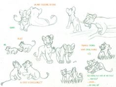 lion king sketch characters - Buscar con Google