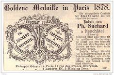 Werbung Suchard 1884