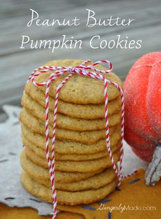 Peanut Butter Pumpkin Cookies