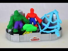 Marvel The Avengers Episodes! Jumbo Play Doh Surprise Eggs Opening Toys Hulk Iron Man Thor - YouTube