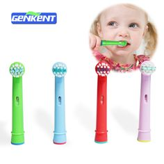 Genkent Replacement kids Brush Heads For Oral Pro-Health B Stages,Dory Electric Toothbrush (4 pcs)