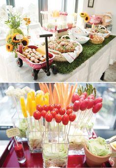 Indoor picnic food table