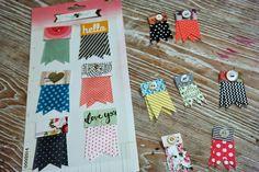 Artful Play | ribbon banner tags from washi tape