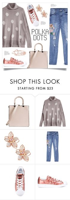"""Polka Dot Sweater"" by mahafromkailash ❤ liked on Polyvore featuring NAKAMOL and adidas"