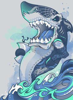 Sharkastico de Muerte by bogielicious