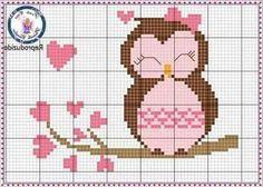 Cross stitch pattern PDF Cute sheep pink by UAHomeMadeStudio Cross Stitch Owl, Cross Stitch Bookmarks, Simple Cross Stitch, Cross Stitch Flowers, Cross Stitch Charts, Cross Stitch Designs, Cross Stitching, Cross Stitch Embroidery, Cross Stitch Patterns