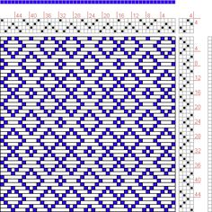 Hand Weaving Draft: Figure 446, A Manual of Weave Construction, Ivo Kastanek, 4S, 4T - Handweaving.net Hand Weaving and Draft Archive