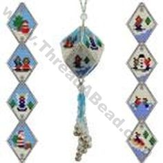 Beady Town Festive Bauble Ornament Bead Pattern By ThreadABead