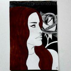 Lana del Rey fanart by @namemeanita