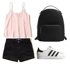 """Vidcon Outfit"" by ilunaisabella on Polyvore featuring moda, Hollister Co., MANGO y adidas Originals"