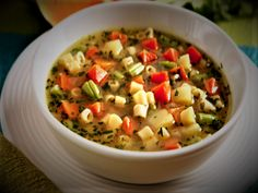 Sopa de Legumes.Perfeita para substituir o jantar com muitos nutrientes e poucas calorias.