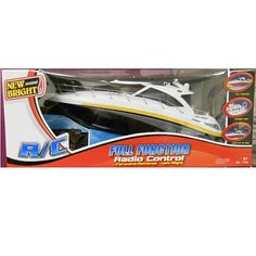 New Bright Radio Controlled 18 inch 6-Volt Sea Ray Boat 27 MHZ Yellow/Grey/Black $34.99  #BestRevews
