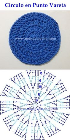Como Tejer Un Circulo Perfecto A Crochet - Diy Crafts Crochet Motifs, Crochet Diagram, Crochet Stitches Patterns, Crochet Round, Crochet Chart, Crochet Squares, Knit Or Crochet, Crochet Designs, Diy Crochet Rug Pattern
