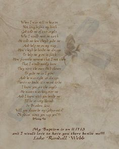 Will You Be My Godparents/Godfather/Godmother Poem Personalized Poetry Print