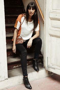 L'Aparté - Collection AH14 - Look Must Have - Top Kita orange- Mars Loves Her www.lapartedescreateurs.com