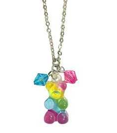 Gummy Bear Candy Rainbow Charm Necklace KanDi Jewelry http://www.amazon.com/dp/B00L83VUT8/ref=cm_sw_r_pi_dp_AtPuvb0RPCGR2