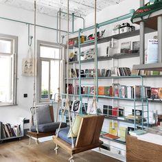 Этот книжный магазин - просто чума! Интерьер, свет, само здание, подборка книг - здесь все идеально, а на первом этаже, естественно, кофейня с идеальным кофе и идеально бородатым бариста  this place is perfect