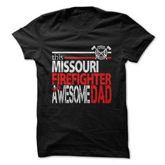 Missouri Firefighter Dad T-Shirt