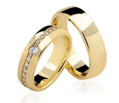 Alianças Santa Mônica ♥ Casamento e Noivado em Ouro 18K - Reisman