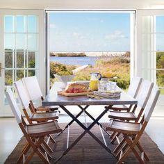 New French doors (four sets line the rear of the house) offer unobstructed views, open the room to the broad waterfront deck, and add cottage charm.   Coastalliving.com