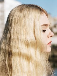 Who What Wear Elle Fanning British Vogue UK June 2014 Elle Of The Ball Photographer Angelo Pennetta  Styled by Francesca Burns Cover Shoot Long Blonde Retro Wavy Hair Mascara Eyeliner Beauty 60s Inspired