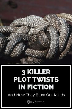If you love a good plot twist as much as we do, you'll definitely want to check out our post featuring 3 Killer Plot Twists in Fiction. We've broken down just what makes them so effective and how you can incorporate a good twist in your writing. Writing Genres, Writing Strategies, Book Writing Tips, Writing Characters, Editing Writing, Fiction Writing, Writing Quotes, Writing Resources, Writing Help